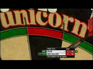 Spain vs New Zealand (PDC World Cup of Darts 2014 / First Round)