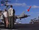 Экстренная посадка F14A на палубу USS Enterprise