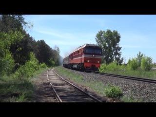 ТЭП70-0566 с пригородным поездом Набережные Челны - Ижевск