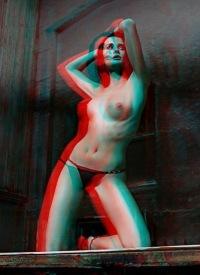 Фото анаглиф порно, как он сосет большой и сочный клитор