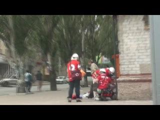 Луганск 02.06.14: Обстрел истребителем ОГА