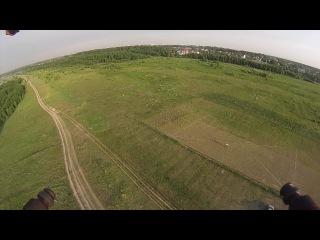 Мой первый полет на квадрокоптере (FPV).