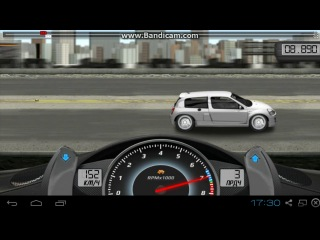 Drag Racing. Career Stock. 1 level Renault Clio V6 Sport