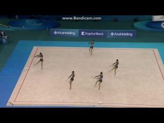 Сборная Греции, булавы. Чемпионат Европы 2014, Баку (Азербайджан).