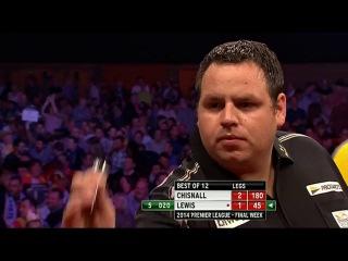Dave Chisnall vs Adrian Lewis (2014 Premier League Darts / Week 15)