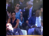 July 6th - Wimbledon - The Beckhams in the Royal Box during day fourteen of the Wimbledon Championships