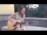 девушка классно поет,красивый голос,шикарный голос,отлично поет,талант,игра на гитаре