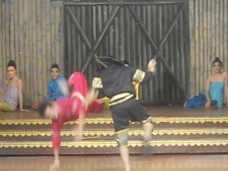 Красивый постановочный бой - Тайланд