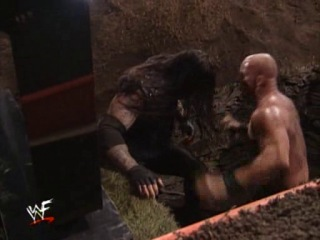 (WWEWM) Rock Bottom: In Your House: Steve Austin vs. The Undertaker (Buried Alive match for the right to compete in the 1999 Royal Rumble match)