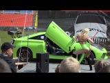 Выступление Наташи и её Toyota Celica Green Lambo