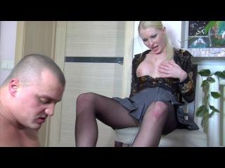 Русское порно - качок и его подруга (фут-фетиш, ножки, колготки, секс, 18+)