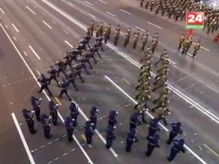 Плац-парад роты почётного караула Республики Беларусь 3 июля 2014