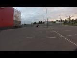 Маркел тренит у Ладьи ) В Конце епическое падение со 140 км/ч !)))