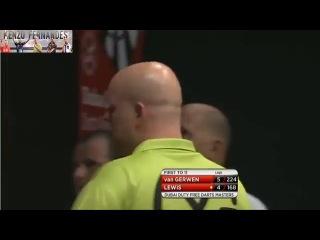Michael van Gerwen vs Adrian Lewis (2014 Dubai Duty Free Darts Masters / Semi Final)