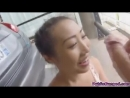 С большой грудью азиатку трахают в общественном гараже