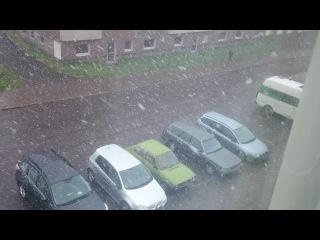 Кируна. Июнь. Снег. 2