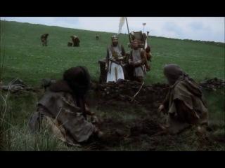 Диалог крестьян анархо-синдикалистов и короля Арутра из к.ф. Монти Пайтон и Священный Грааль, 1975 г