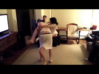 Girl Puts Guy In Rear Naked Choke And Makes Him Tap Out!