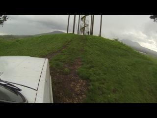Удар молнии в телевышку на горе Машук