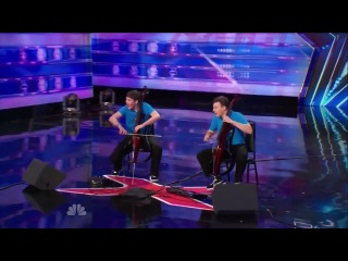 America's Got Talent S09E05 Emil & Dariel Brothers perform Jimi Hendrix on Dueling Cellos