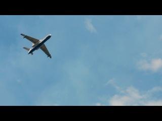 Самолет тушит пожар у Дзержинска