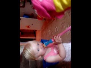 Поздравление с Днем Рождения от дочки с бигемотиком!