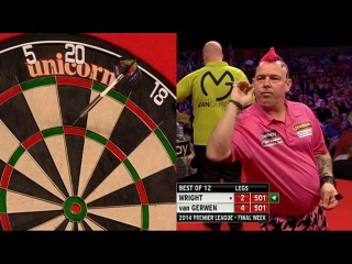 Peter Wright vs Michael van Gerwen (2014 Premier League Darts / Week 15)