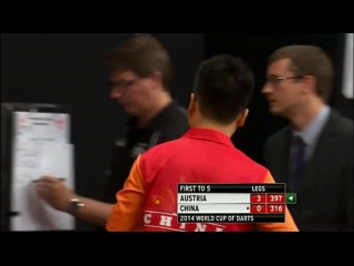 Austria vs China (PDC World Cup of Darts 2014 / First Round)
