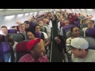 в Самолете поют песню их Коль Лев