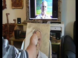 Как написать портрет красками. Орловский художник. Ревякин Д.В.