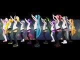 Vocaloid Вокалоиды - MMD PV Sekka Yufu Imoito Defoko Acme Iku Miku Hatsune Kasane Teto Akita Neru Yowane Haku Kagamine Rin
