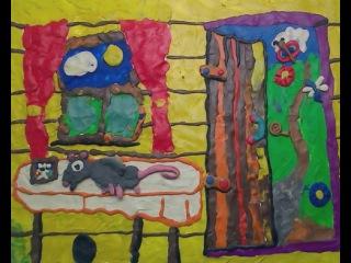 Костя Франк в 9 лет, г. Томск, мой сынок, придумал и слепил этот мультик