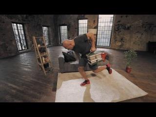 Домашние тренировки с Денисом Семенихиным Упражнения для спины тяга пачки книг к поясу ljvfiybt nhtybhjdrb c ltybcjv ctvtyb bysv eghf ytybz lkz cgbys nzuf gfxrb rybu r gjzce