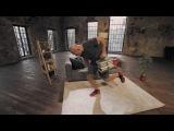 Домашние тренировки с Денисом Семенихиным. Упражнения для спины (тяга пачки книг к поясу)
