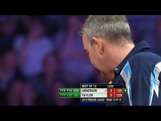 Gary Anderson vs Phil Taylor (2014 Premier League Darts / Week 12)
