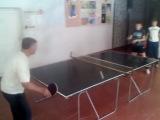 Тренировки по настольному теннису в МКОУ СОШ №18 c.Шангала