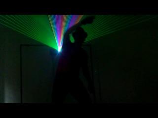 Первая репетиция лазерного шоу ( DJ TanIN )
