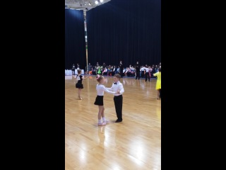 Арсений на международном конкурсе по бальным танцам в наминации Беби стар