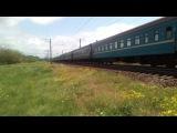 Электровоз ЧС2 с поездом №145 Киев - Симферополь 11.05.2014