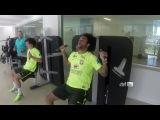 Тренировка сборной Бразилии в тренажерном зале и бассейне (Неймар, Данте, Давид Луис, Марсело и др)