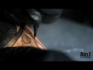 Как делается татуировка в замедленной съёмке слоу-моушн/ How to make Tattoo slow motion