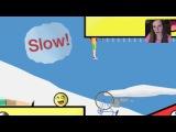 Первый Раз Играю В Happy Wheels -- Детка Геймер #31 Саша Спилберг