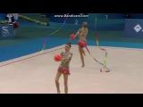 Сборная России, мячи и ленты. Чемпионат Европы 2014, Баку (Азербайджан).