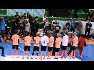 [FANCAM] 140526 Luhan Xiumin @ MBC Idol Sports Championship Futsal