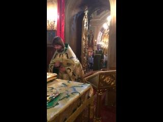 Храм Рождества Пресвятой Богородицы с. Верхнее Мячково. День Святаго Духа Малый вход