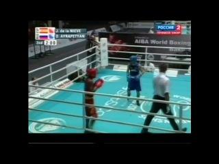 Чемпионат мира по боксу 2011, Баку, до 49 кг, 1/4 финала, Айрапетян Давид-José de la Nieve, 3 место