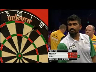 Belgium vs India (PDC World Cup of Darts 2014 / First Round)