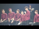 [FANCAM] 140312 EXO @ 'Hello' greeting party in japan (Talk) - Lay focus