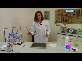 Декор по французски от Joelle Godefroid - имитация мрамора масляными красками.