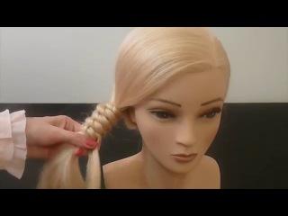 НЕОБЫЧНАЯ КОСА на каждый день,в школу.Лёгкая причёска .Braid Hairstyles.Coiffures. Peinados